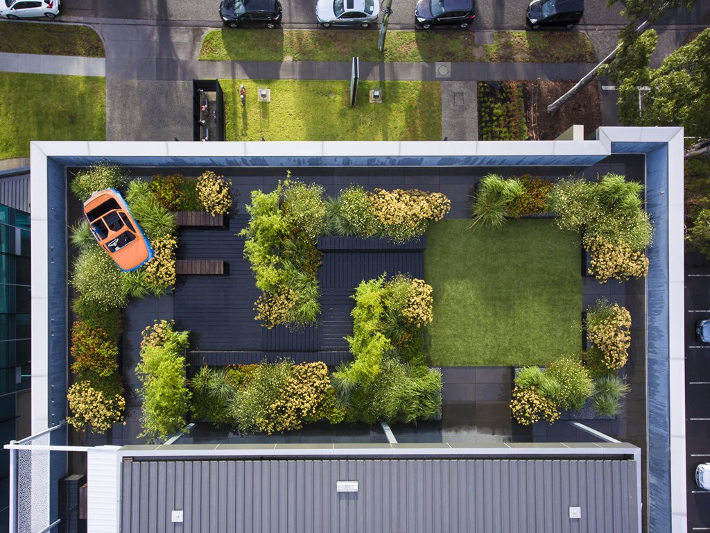 Rooftop garden in melbourne fosters office liveability for Landscape design melbourne