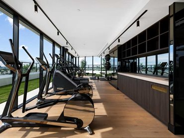 Technogym featuring European Oak flooring from Mezzano collection