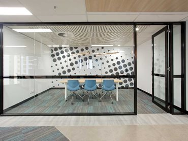Bris Aluminium's partitioning systems can be customised to suit different heights and widths