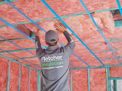 Fletcher insulation Pinkology timber frame
