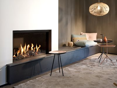 Schots Kalfire gas fireplace in living room interior