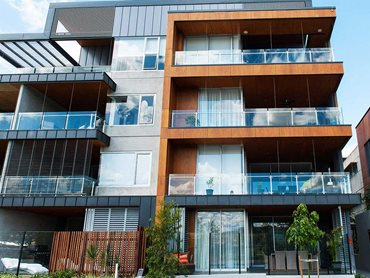 Zinc, copper and Prodema panels were featured heavily on the external facade