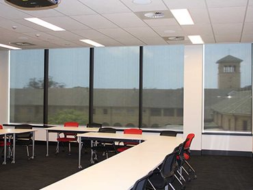 The blinds were installed in the new buildings