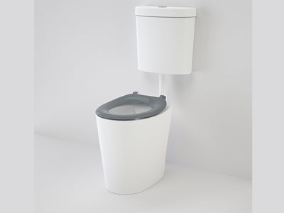 Product image of Caroma Care Cleanflush toilet with grey seat