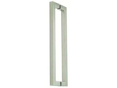 1213 Rectangular Silver Door Handle Product Image