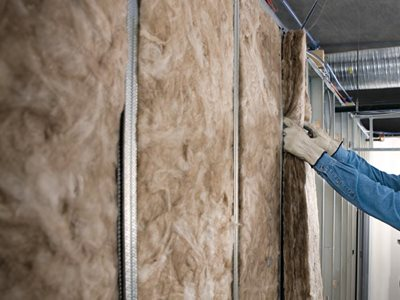 Knauf Insulation non combustible acoustic partition roll product installation