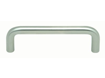 1221 Curved Silver Door Handle Product Image