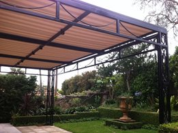 Patio Awning- provides shade and reduces heat