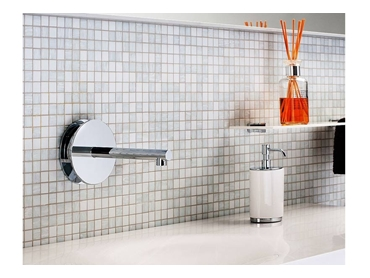 Latitude wall basin tapware with 200mm spout