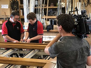 The SBS crew spent time with individual staff at the Paarhammer factory