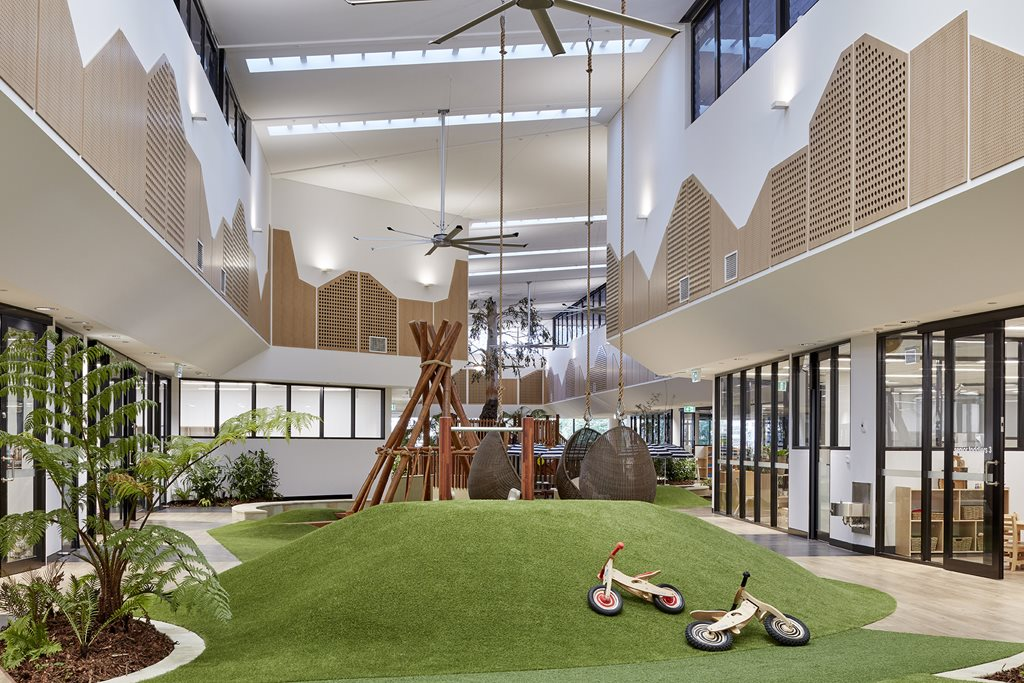 Childcare centre turns brisbane heritage building into for Landscaping courses adelaide