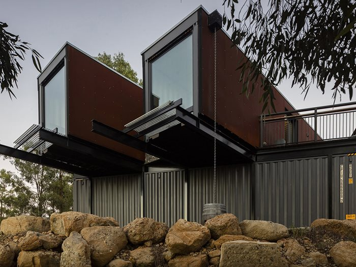 A Cellar Door Made From Shipping Containers Architecture
