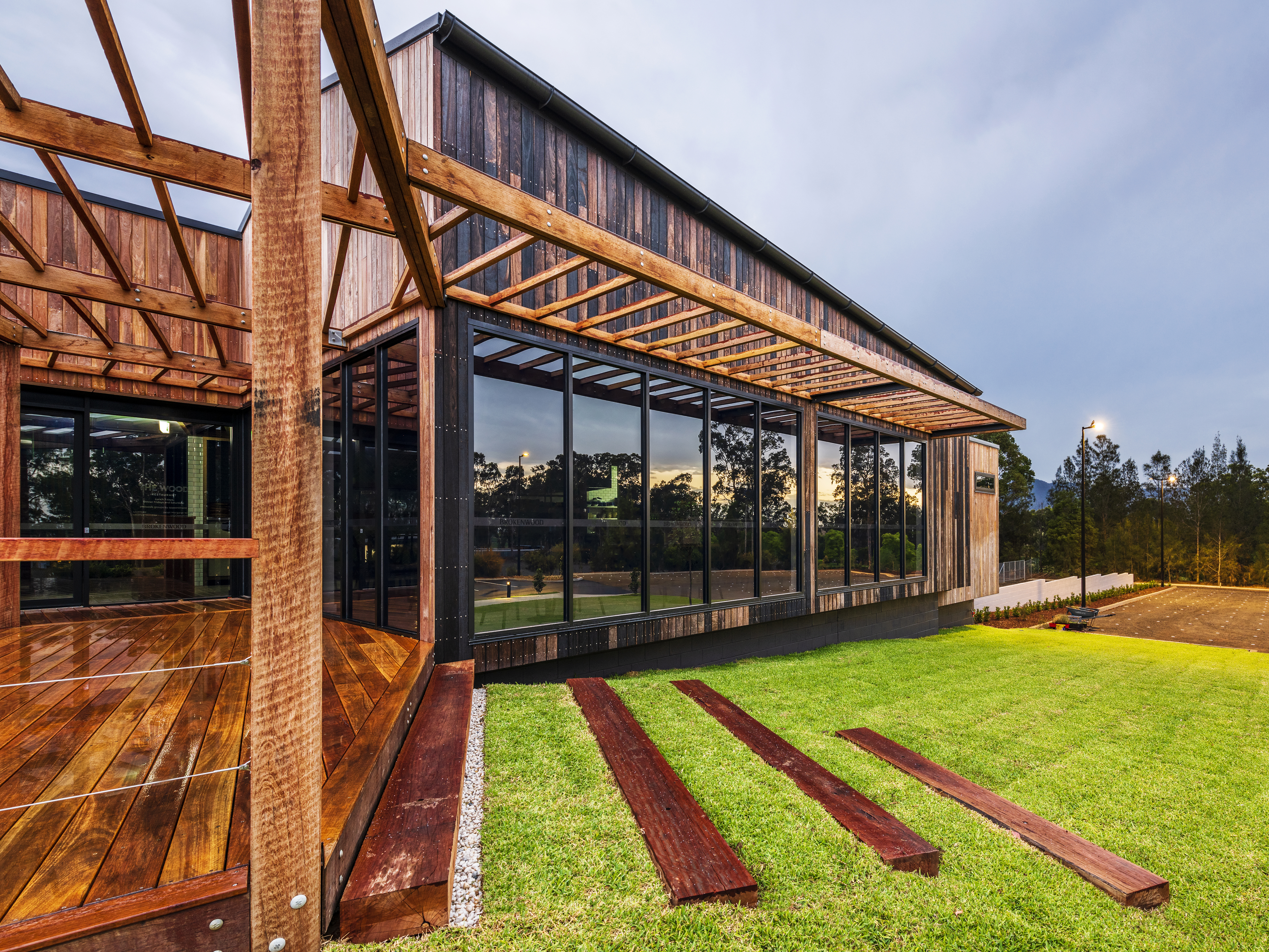contemporary cellar door