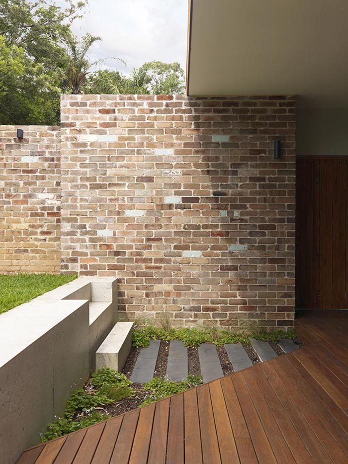 Detailed view of Suntrap home wall
