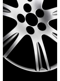 Detailed product image of powder coated hubcap