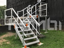 Kombi aluminium stairs, walkways & access platforms