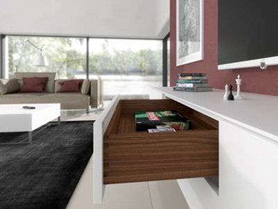 White Drawer Timber Interior Open Living Room Interior