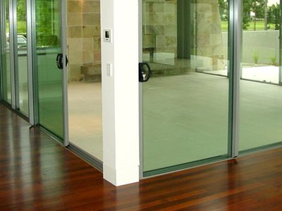 Built in security Multi-Track Sliding Doors by Wintec Systems