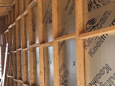 Kingspan's high performing insulation in the house walls