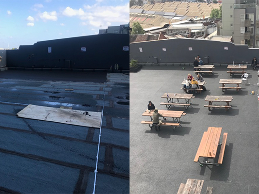 Resin bound stone rooftop: Protective, functional and aesthetically pleasing