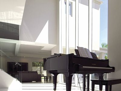 Opal Plasterboard Residential Entrance Hall Piano Interior