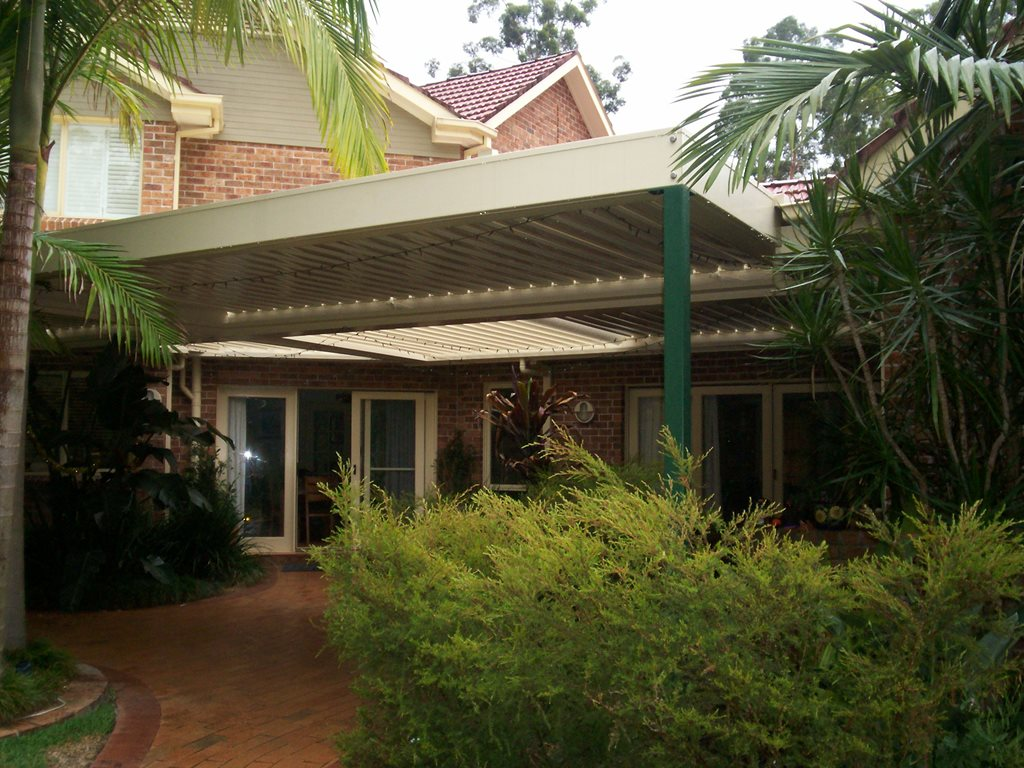 Stylish opening and closing louvered pergolas