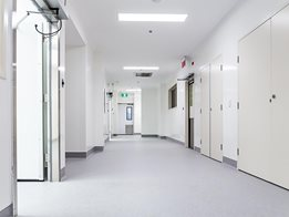 Altro Whiterock hygienic wall protection