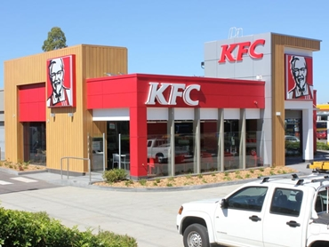 KFC Restaurant for Exterior Aluminium Cladding