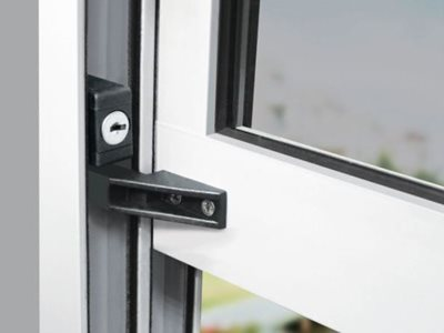 Detailed product image of double hung window restrictor