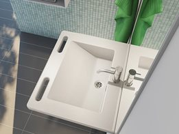 Matrix wash basin range, designed for the aged care and disability sector
