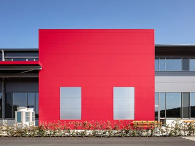 Insulated Wall Panels Red Exterior