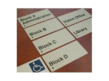 Braille signage from CTA Australia