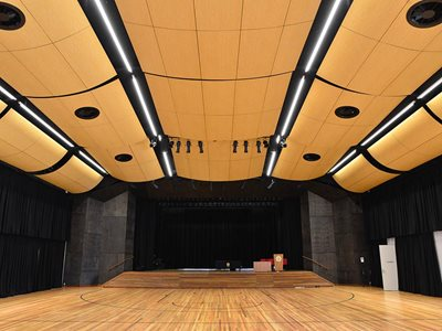 Interior of school hall at St Lukes Grammar
