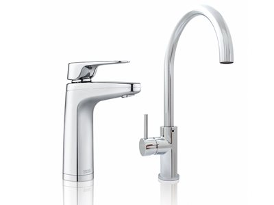 Product image of chrome finish filtered water taps