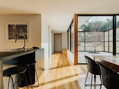 Tasmanian Oak Flooring Residential Kitchen Dining Interior