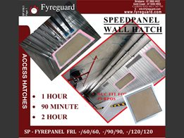 Speedpanel – Screw fixed: Wall 1 hour, 90 minute & 2 hour FYREPANEL