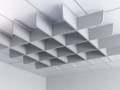 Rendered product image of acoustic ceiling grid