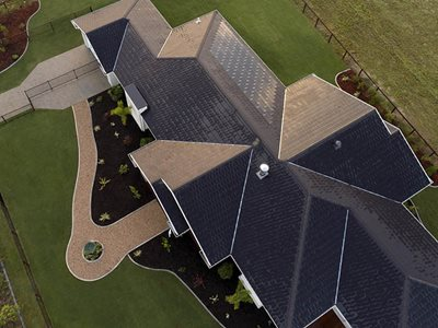 large residential home solar roof tiles