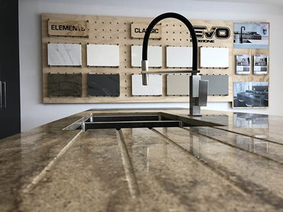 commerical showroom kitchen benchtop