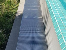 Drainage and grates for pool surrounds and paved areas from Stormtech