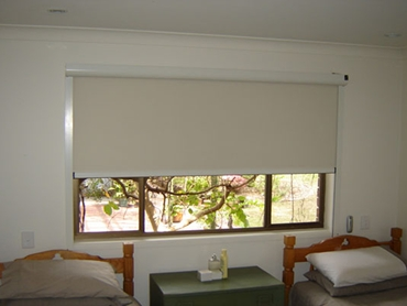Blackout blinds used in bedroom