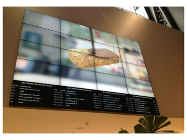 Information Video Wall Display For Corporate Lobby Or