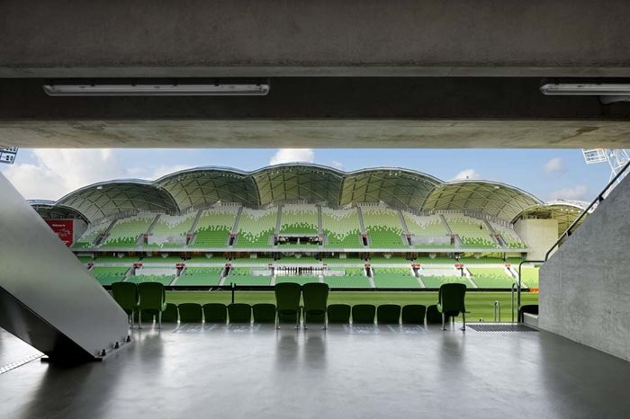 Melbourne Rectangular Stadium AAMI Park Interior