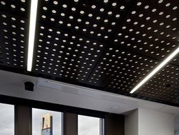 Au.diTile: Perforated timber ceiling tiles