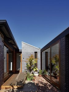 Residential home with brick cladding