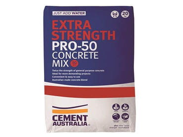 Cement Australia Extra Strength PRO-50  Concrete Mix for use in Projects with Difficult Accessibility