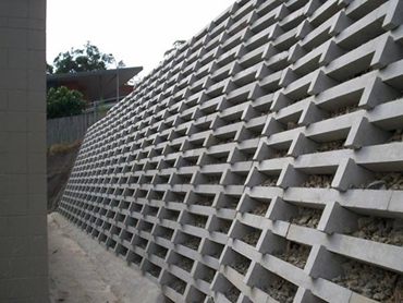 High Concrete Crib Wall