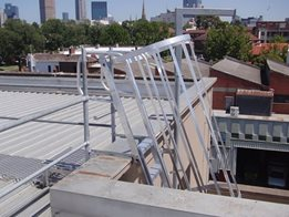 Commercial and industrial fixed access ladders by AM-BOSS Access Ladders