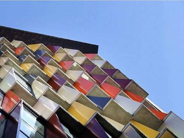 Mosaic stands out for its intriguing facade