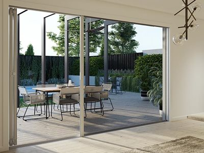 Freedom retractable screens for large openings